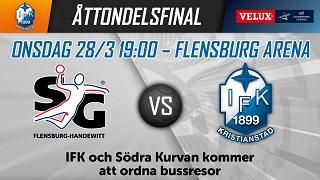 Flensburg vs IFK 28 mars