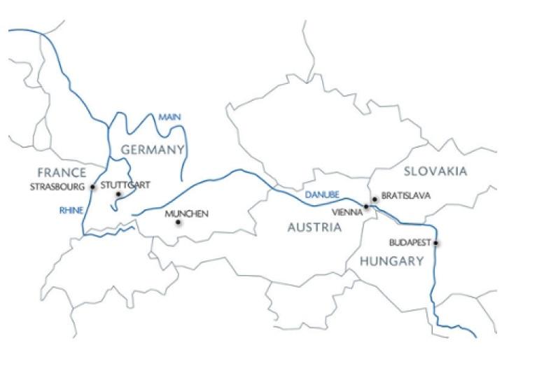 Karta över kryssningsrutten